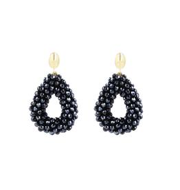 LOTT. Gioielli LOTT. Exclusive Collection oorbellen Glassberry Drop S Metallic Blue Gold Plated