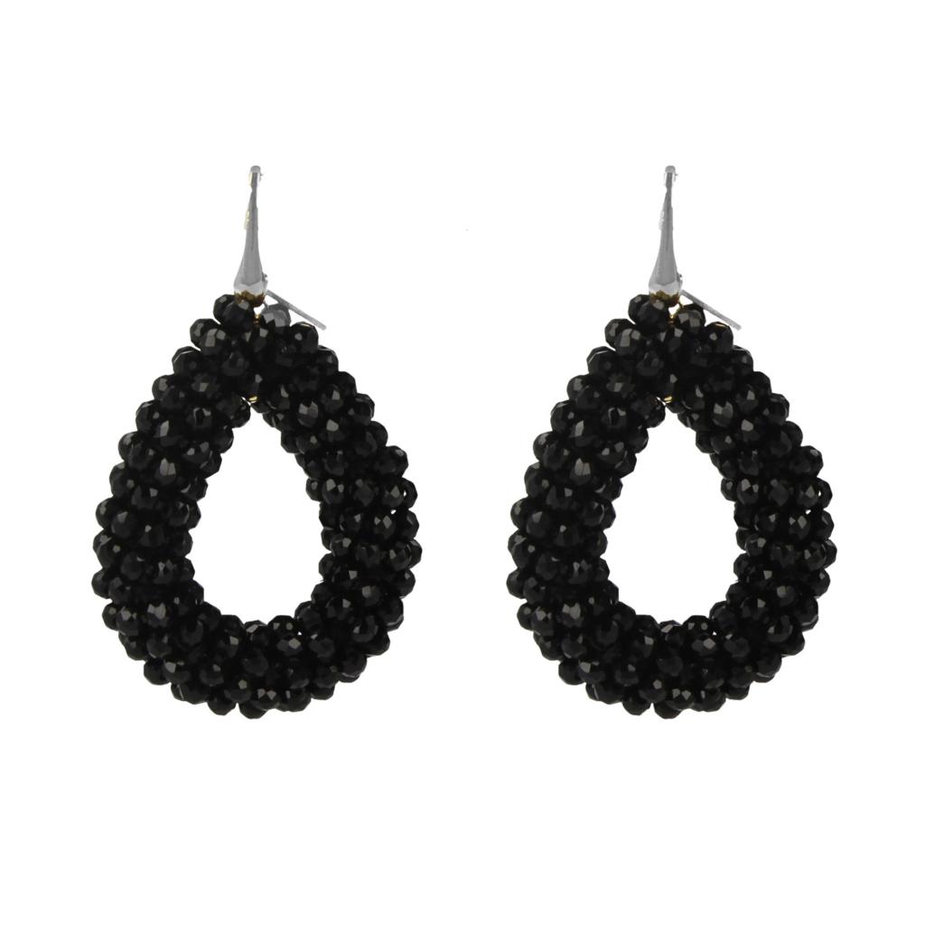 LOTT. Gioielli LOTT. Exclusive Collection oorbellen Glassberry Drop L black