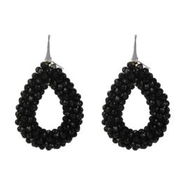 LOTT. Gioielli LOTT. Exclusive Collection oorbellen Glassberry Drop L Black Silver