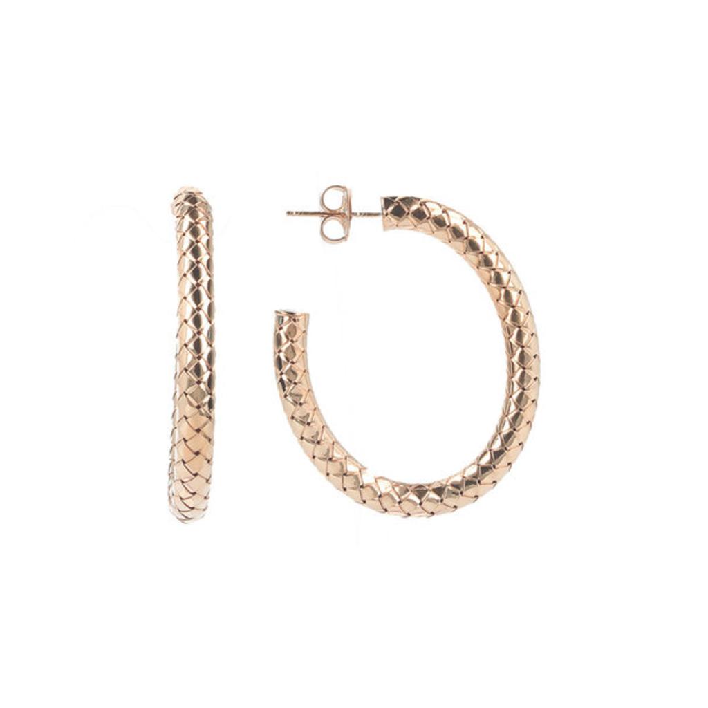 LOTT. Gioielli LOTT. Classic Collection oorbellen Cobra Creool Oval M Rosé Gold