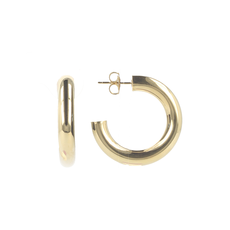 LOTT. Gioielli LOTT. Classic Collection oorbellen Tube Creole Round S Gold Plated