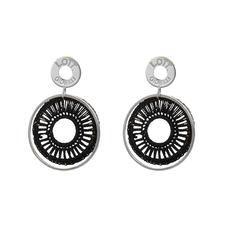 LOTT. Gioielli LOTT. Exclusive Collection oorbellen Silk Circle Black Silver