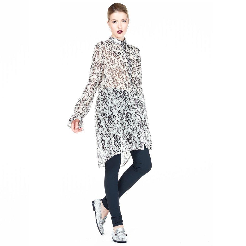 Jane Lushka Jane Lushka blouse jurk GS919AW135 Ecru