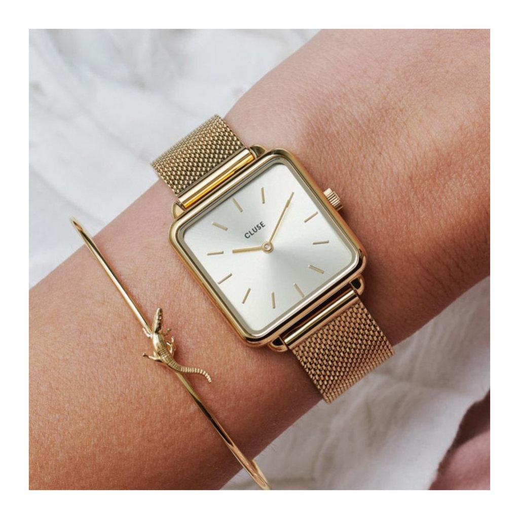 CLUSE CLUSE Horloge La Tétragone Mesh Full Gold