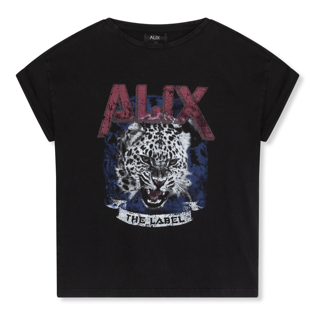 ALIX The Label ALIX T-shirt Knitted Tiger Black
