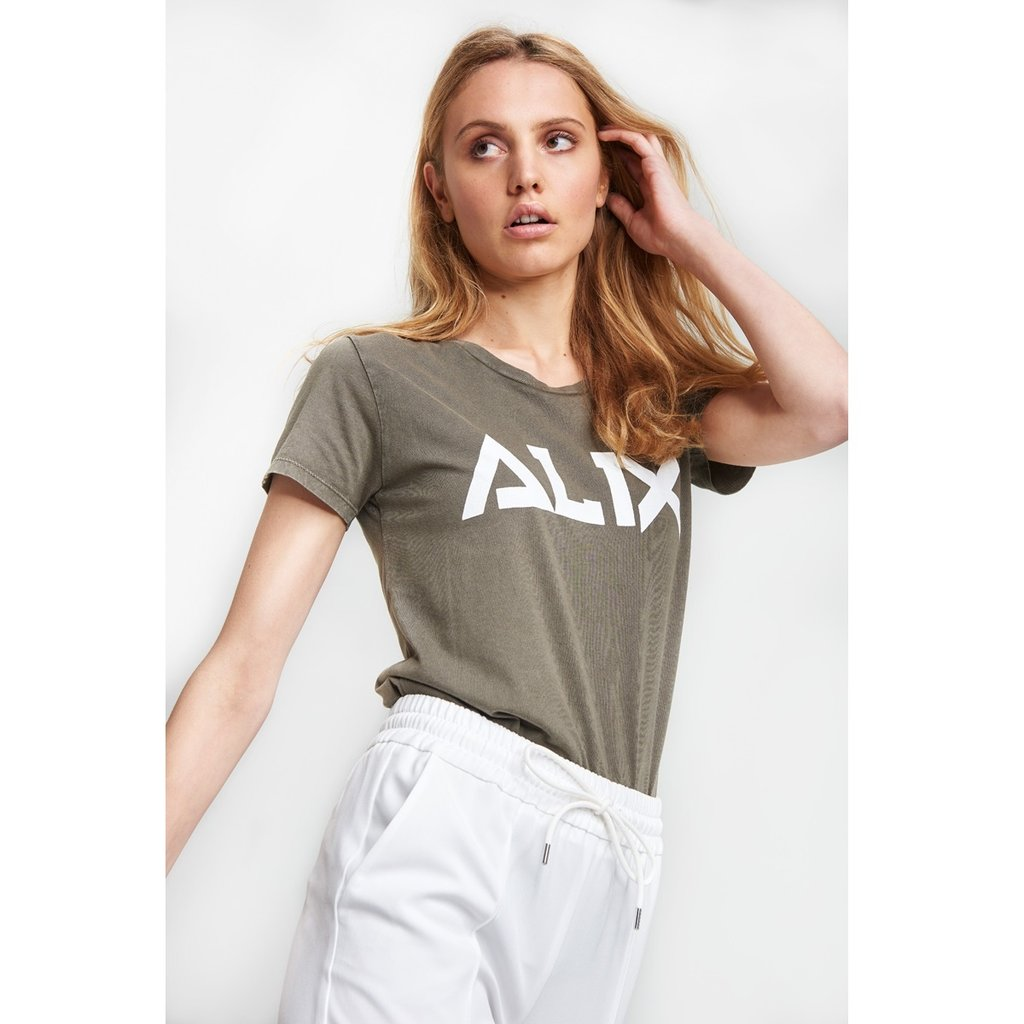 ALIX The Label ALIX T-shirt Knitted Craquéle Dark Olive