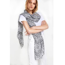 ALIX The Label ALIX sjaal Graphic Animal Soft White