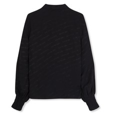 ALIX The Label ALIX blouse Jacquard Logo Print Zwart