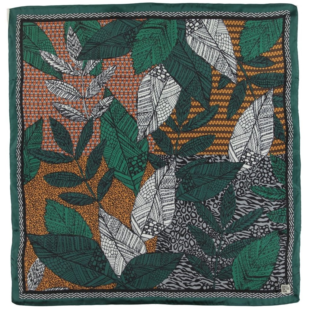 Birds on the Run Birds on the Run sjaal African Jungle Dark Green