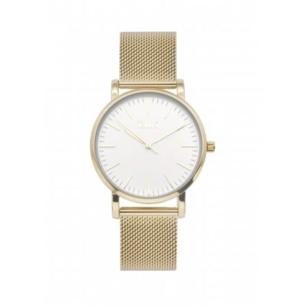 IKKI IKKI horloge Jamy JM14 Gold White