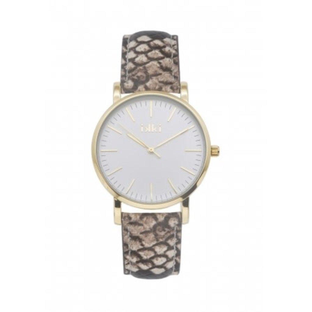 IKKI IKKI horloge Jamy JM18 Brown Python Gold