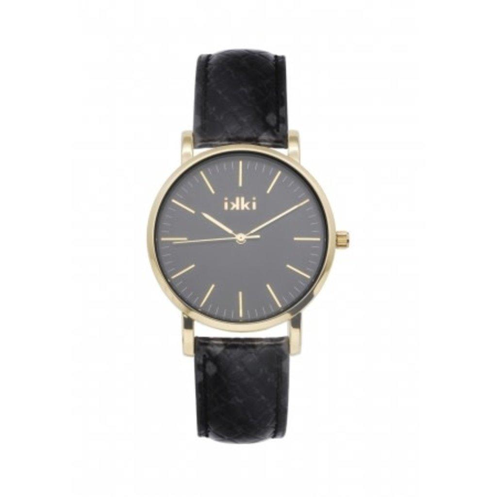 IKKI IKKI horloge Jamy JM19 Black Python Gold Black