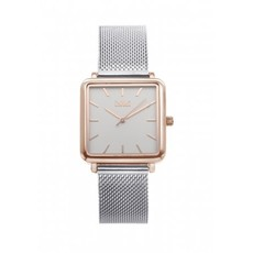 IKKI IKKI horloge Tenzin TE04 Silver/Rose Gold/White