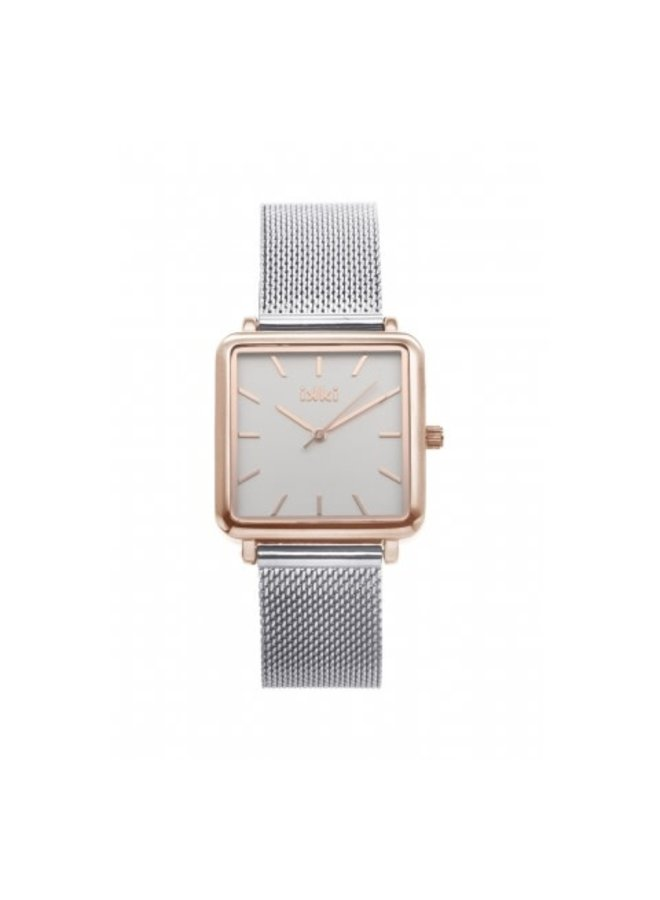 IKKI horloge Tenzin TE04 Silver/Rose Gold/White