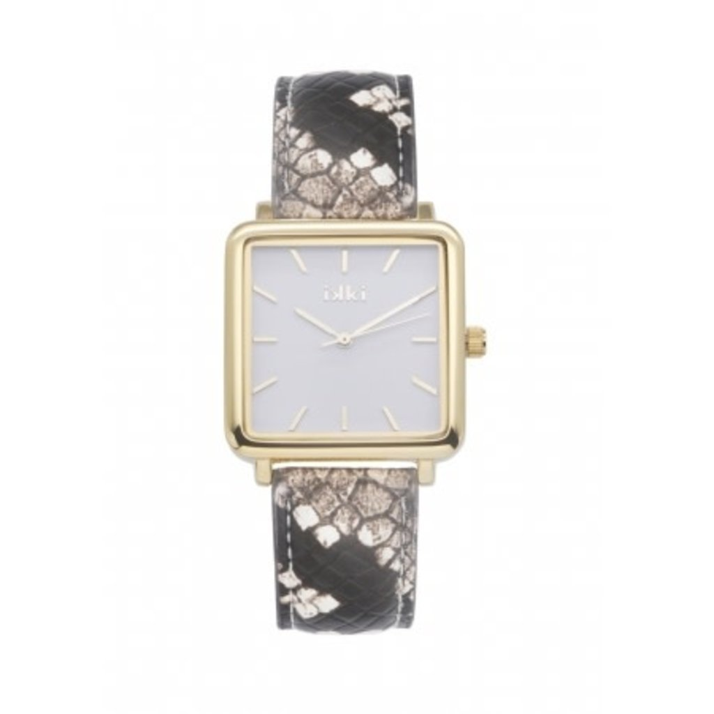 IKKI IKKI horloge Tenzin TE14 Brown Python Gold