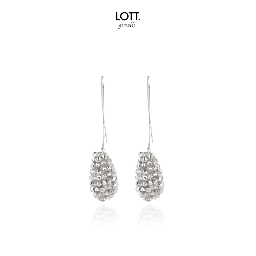 LOTT. Gioielli LOTT. oorbellen Glassberry Cone S Silver Soft Silver