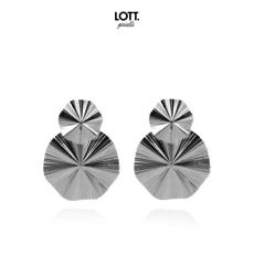 LOTT. Gioielli LOTT. oorbellen Curved Silver
