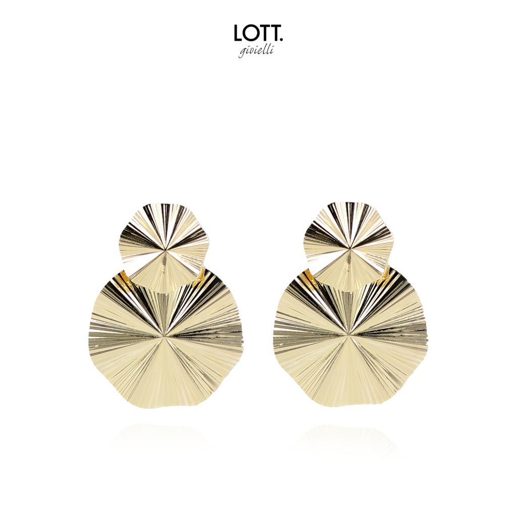 LOTT. Gioielli LOTT. oorbellen Curved Gold