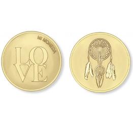 Mi Moneda Mi Moneda munt Love & Dreamcatcher Gold Plated