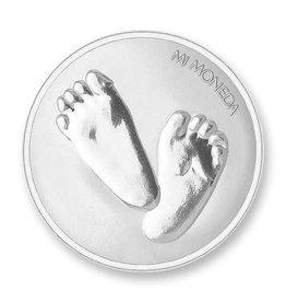 Mi Moneda Mi Moneda munt Baby Feet & te Quiero Silver
