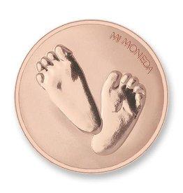 Mi Moneda Mi Moneda munt Baby Feet & te Quiero Rosé Gold Plated
