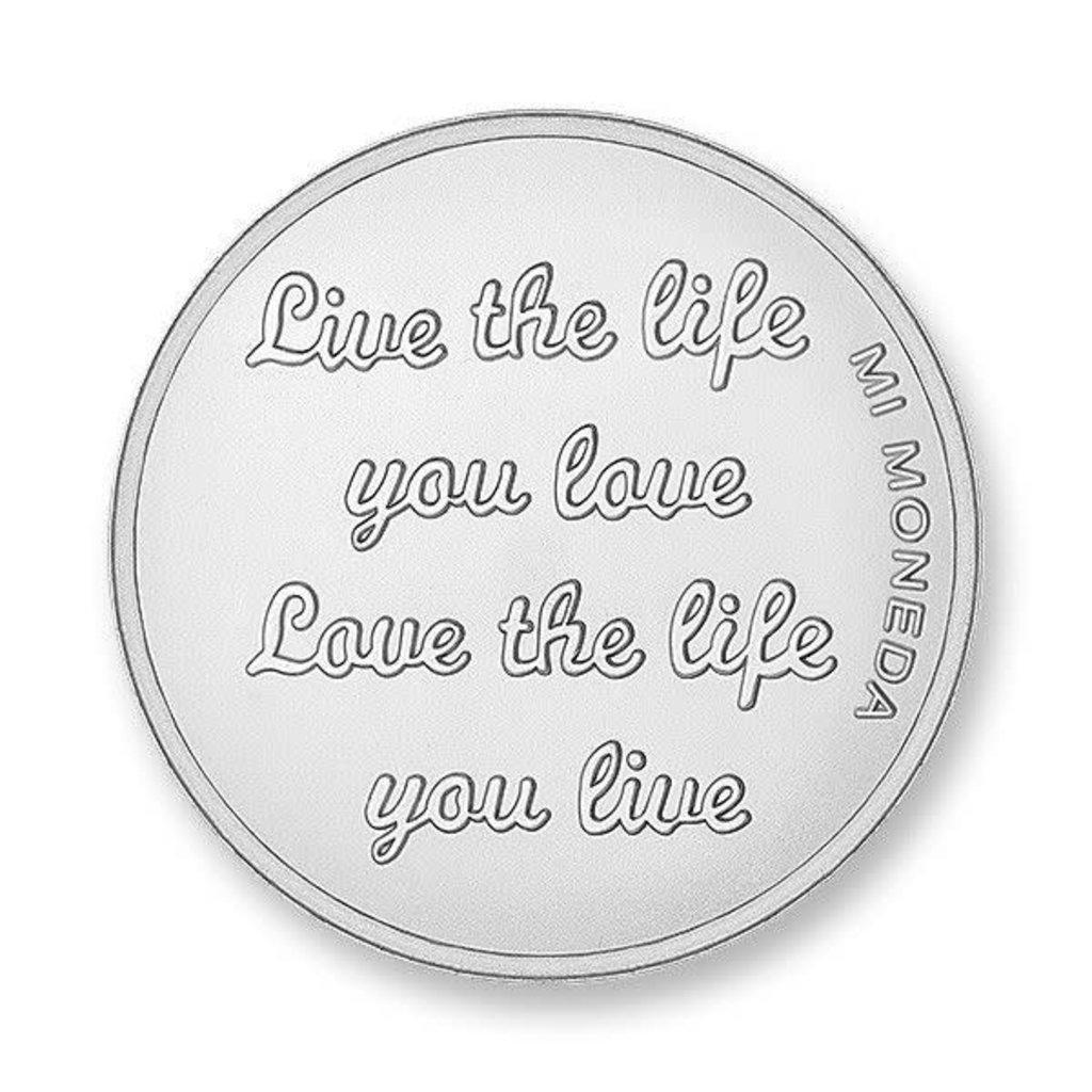 Mi Moneda Mi Moneda munt Carpe Diem & Live the Life Silver Plated