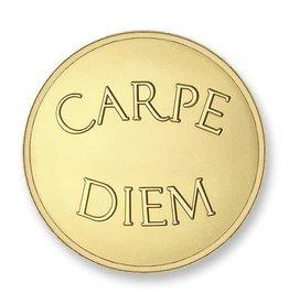 Mi Moneda Mi Moneda munt Carpe Diem & Live the Life Gold Plated