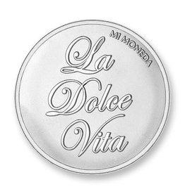 Mi Moneda Mi Moneda munt Dolce Vita & Veni Vidi Vici Silver Plated