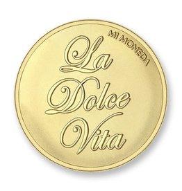 Mi Moneda Mi Moneda munt Dolce Vita & Veni Vidi Vici Gold Plated