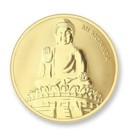 Mi Moneda Mi Moneda munt Buddha & Buddha Gold Plated