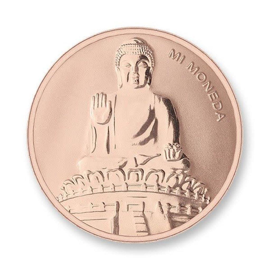 Mi Moneda Mi Moneda munt Buddha & Buddha Rosé Gold Plated