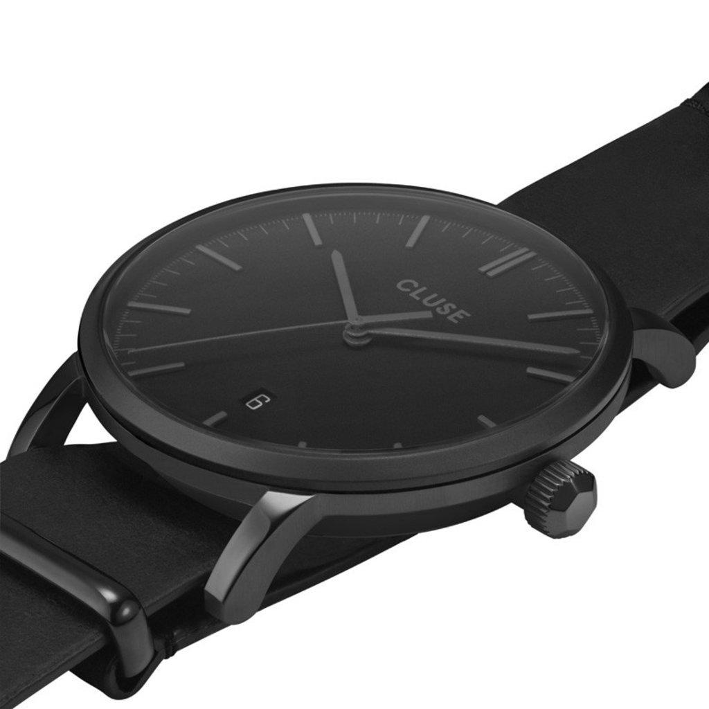 CLUSE CLUSE horloge Aravis Nato Leather Black