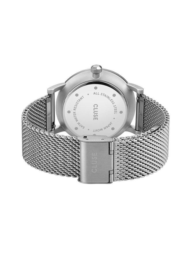 CLUSE horloge Aravis Mesh Silver/Dark Grey