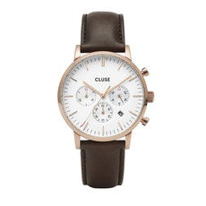 CLUSE CLUSE horloge Aravis Chrono Leather Rose Gold