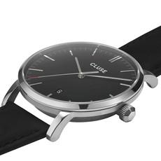 CLUSE CLUSE horloge Aravis Leather Black/Silver