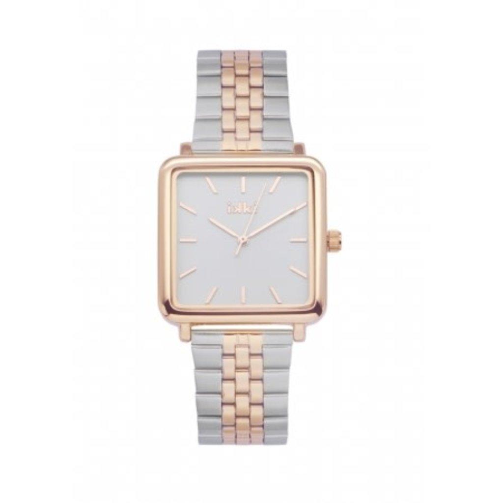 IKKI IKKI horloge Tenzin TE15 Silver Rosé Gold