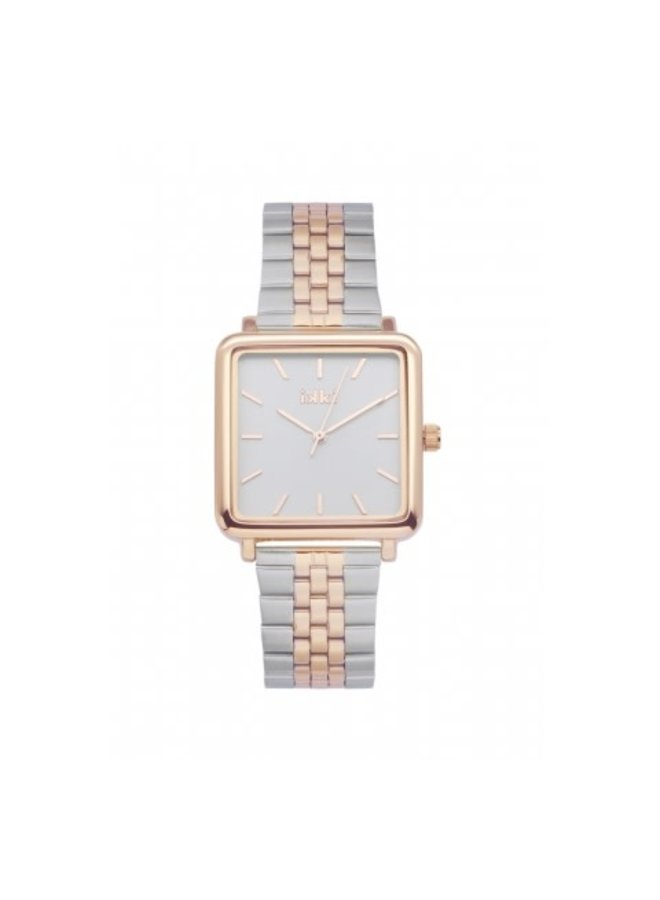 IKKI horloge Tenzin TE15 Silver/Rosé Gold