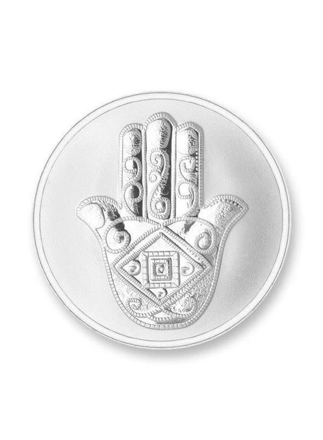 Mi Moneda munt Da Vinci & Hand Silver Plated