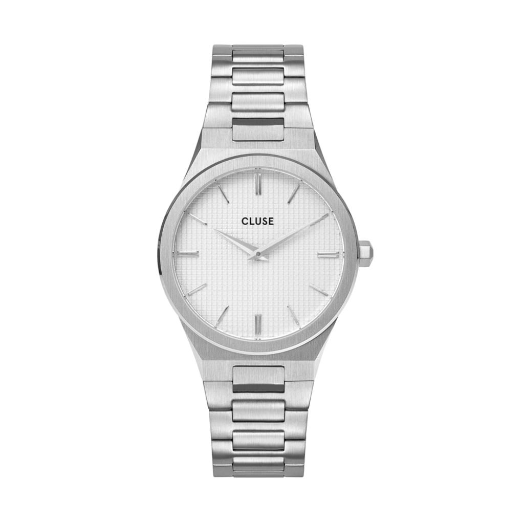 CLUSE CLUSE horloge Vigoureux 33 H-Link Silver Snow White/Silver CW0101210003