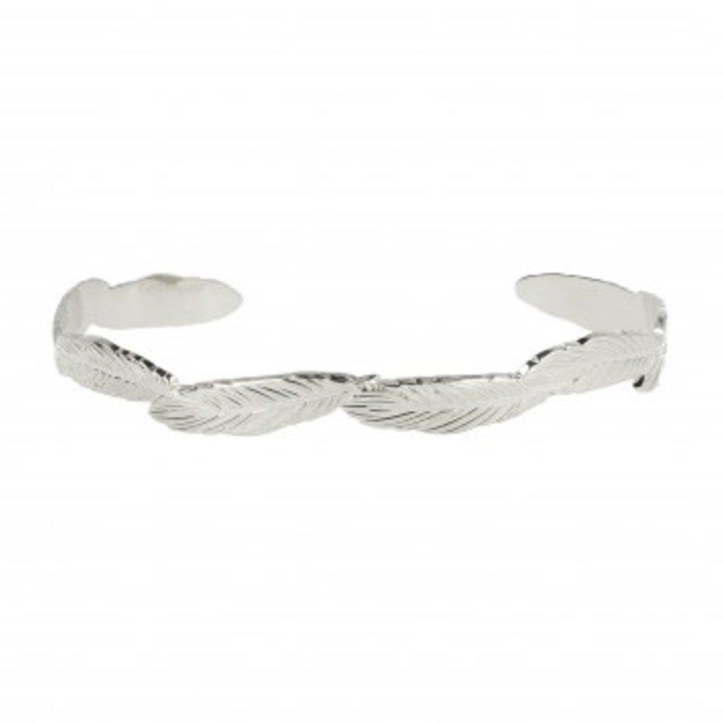 LOTT. Gioielli LOTT. Gioielli bangle Feather Silver Plated