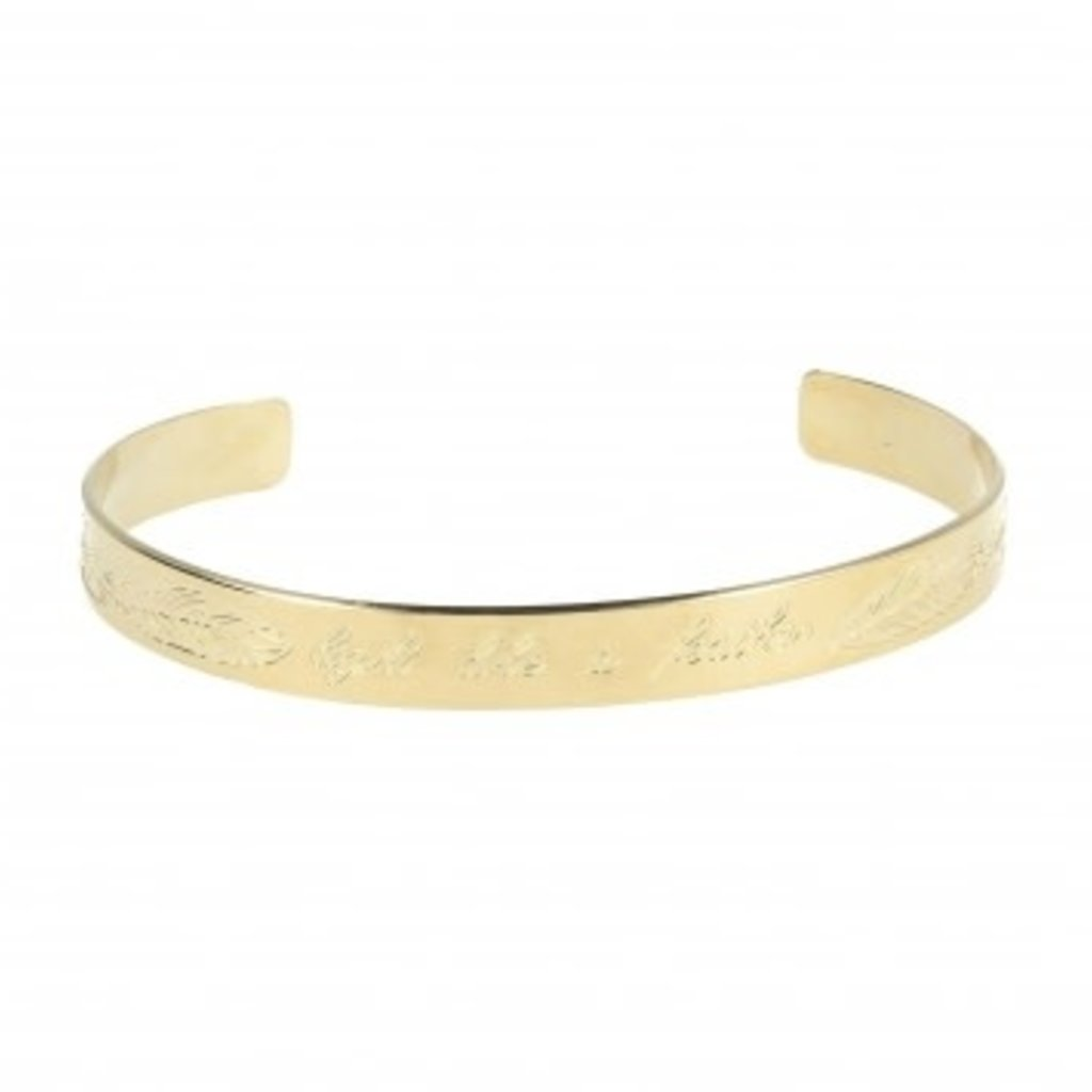 LOTT. Gioielli LOTT. Originals Only armband Feather Quote Gold Plated