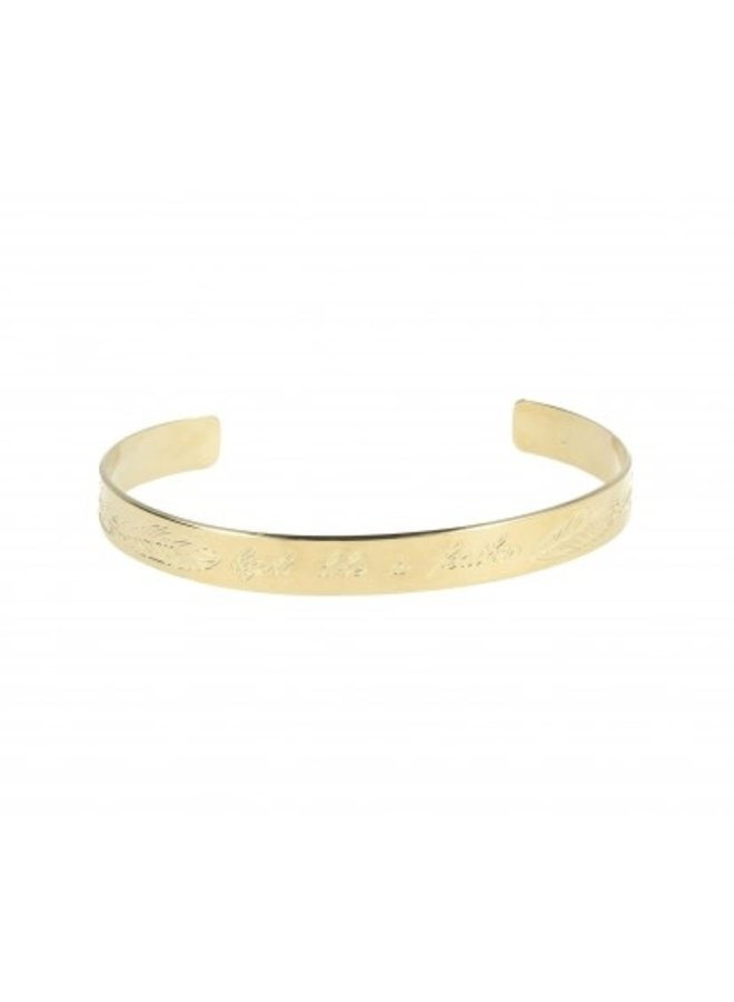 LOTT. Gioielli bangle  Feather Quote Gold Plated