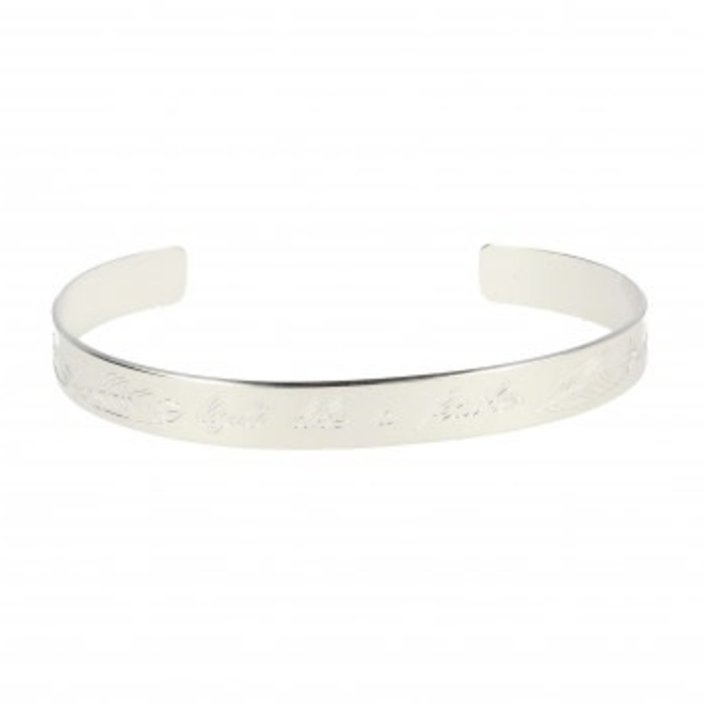 LOTT. Gioielli LOTT. Originals Only armband Feather Quote Silver Plated