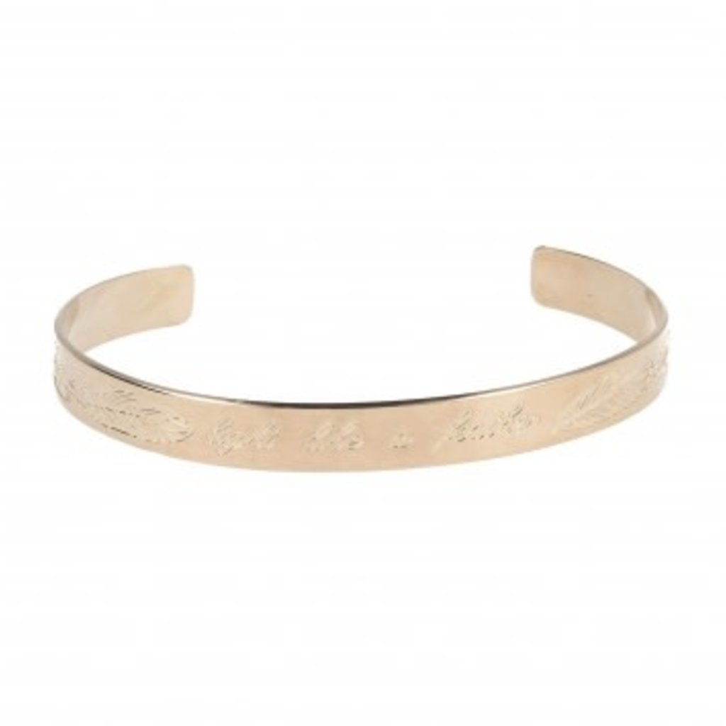 LOTT. Gioielli LOTT. Originals Only armband Feather Quote Rosé Gold Plated