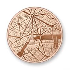Mi Moneda Mi Moneda munt Paris Rosé Gold Plated