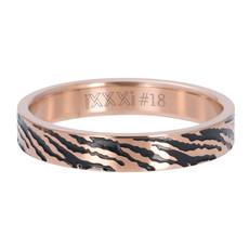 iXXXi Jewelry iXXXi vulring 4 mm Zebra Rosé Gold Plated