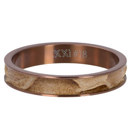 iXXXi Jewelry iXXXi vulring 4 mm Crocodile Brown