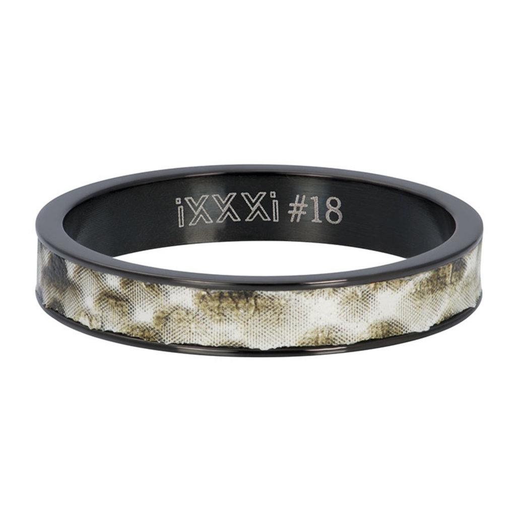 iXXXi Jewelry iXXXi vulring 4 mm Python Black