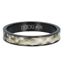 iXXXi Jewelry iXXXi vulring 4 mm Python Black