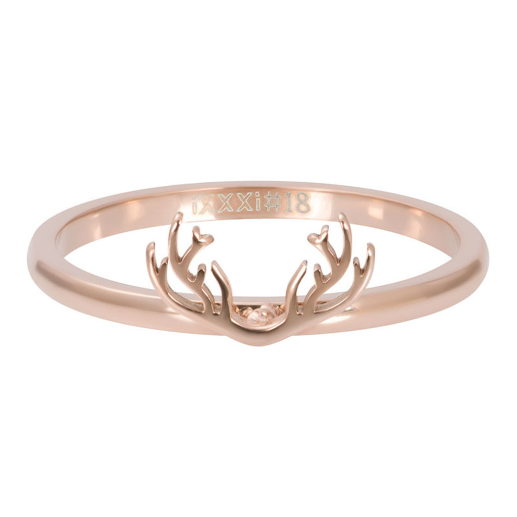 iXXXi Jewelry iXXXi vulring 2 mm Symbol Antlers Rosé Gold Plated